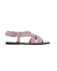 Isabel Marant Jano Studded Suede Slingback Sandals