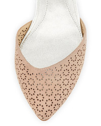 c1e35058197 Brian Atwood B By Adeena Floral Cutout Ankle Strap Flat Light Pink ...