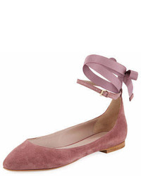 AERIN Rin Suede Ankle Wrap Ballet Flat