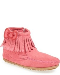 Minnetonka Toddler Girls Hello Kitty Fringe Boot