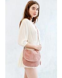 Pink Suede Crossbody Bag