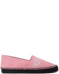 Kenzo Pink Suede Logo Espadrilles
