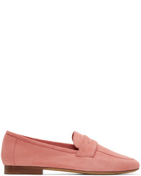 Pink suede classic loafers medium 3731534