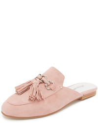 Pink Suede Mules