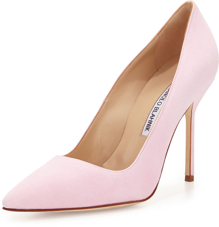 ce83dc77fb8b ... Pumps Manolo Blahnik Bb Suede 105mm Pump Light Pink ...