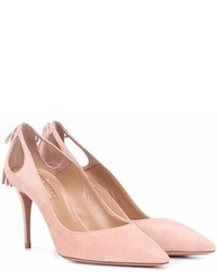 Aquazzura Forever Marilyn 85 Suede Pumps