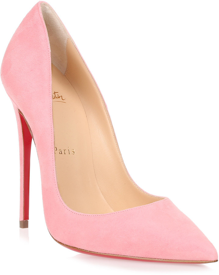 sneakers for cheap 7b7d5 d8a42 $675, Christian Louboutin So Kate 120 Pink Suede Pump