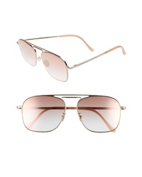 CUTLER AND GROSS 56mm Polarized Navigator Sunglasses