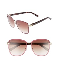Longchamp 58mm Metal Sunglasses