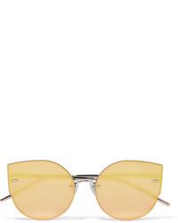 Gentle Monster Ami Adam Cat Eye Rose Gold Tone Mirrored Sunglasses
