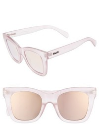 Quay Australia After Hours 50mm Square Sunglasses Pink