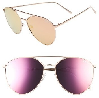 3ebdbe4020 ... Quay Australia X Jasmine Sanders Indio 60mm Mirrored Aviator Sunglasses  Gold Pink ...