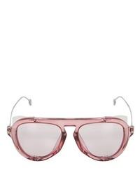 Gucci Aviator Sunglasses W Metal Blinders