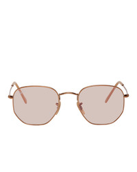 Ray-Ban Copper Hexagonal Sunglasses