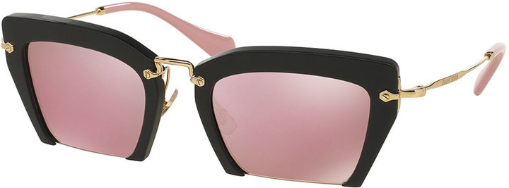 acf35dfe56ff Cut Off Cat Eye Sunglasses Pinkblack. Pink Sunglasses by Miu Miu · Buy for   390 from Neiman Marcus