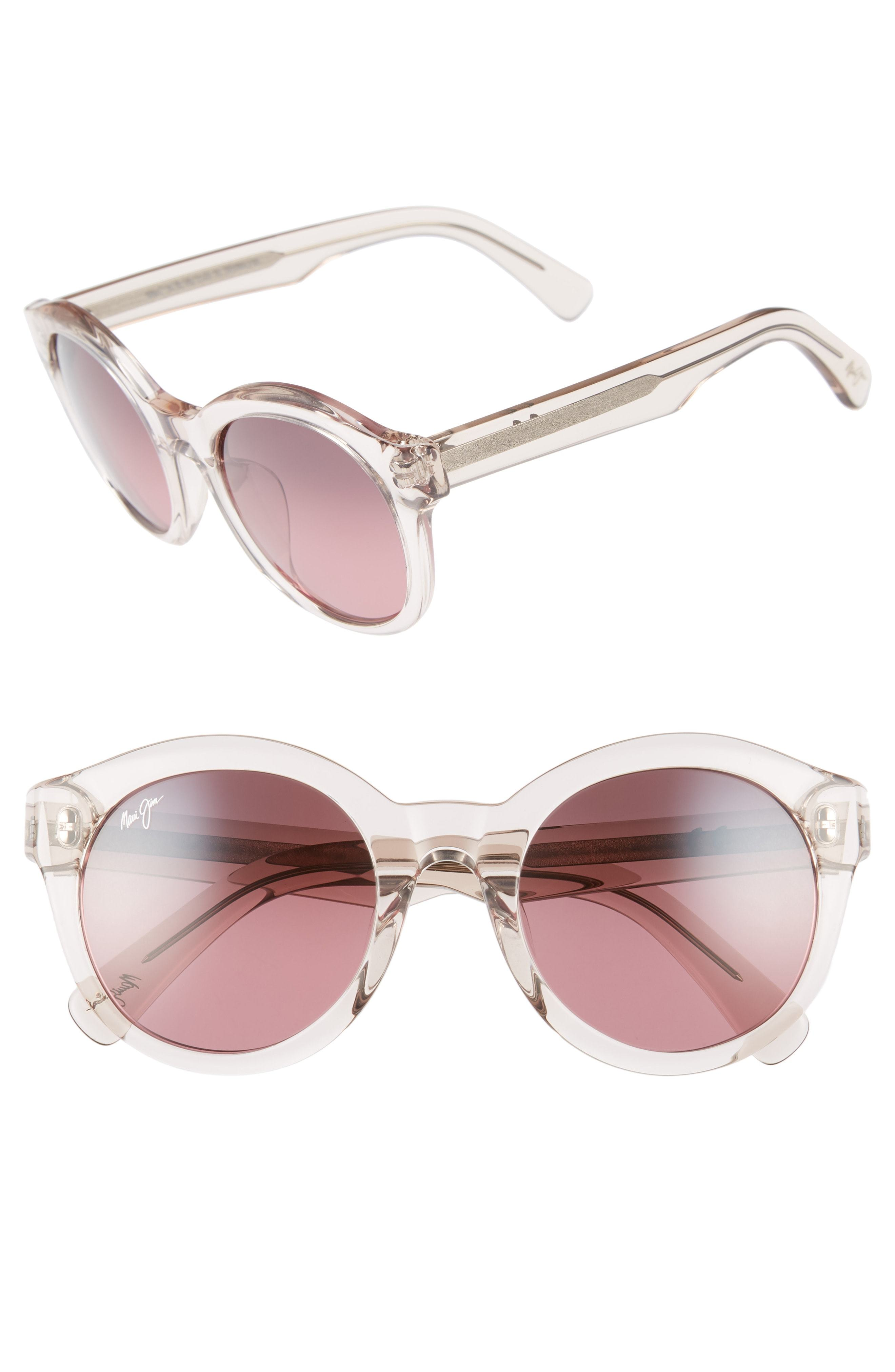 2d50065e21 Maui Jim Jasmine 51mm Polarizedplus2 Round Sunglasses, $319 ...
