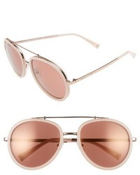 Jules 58mm Aviator Sunglasses Crystal Black White Gold