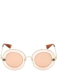 Gucci Laveugle Par Amour Round Sunglasses