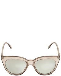 Le Specs Transparent Acetate Sunglasses
