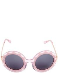 Linda Farrow Markus Lupfer Round Sunglasses