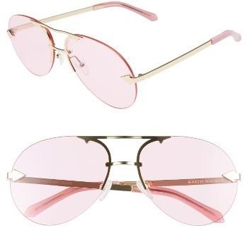 d16f1226fc1 ... Karen Walker Love Hangover 60mm Aviator Sunglasses Silver Clear ...