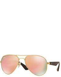 Metal aviator sunglasses with mirror lenses medium 705080