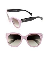 Prada 54mm cat eye sunglasses pink one size medium 65048