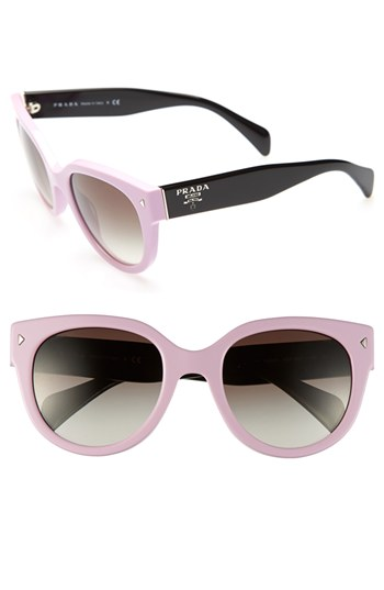 cda48e6679b5 Prada 54mm Cat Eye Sunglasses Pink One Size, $245 | Nordstrom ...