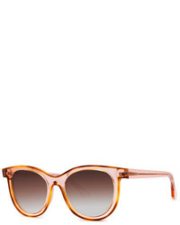 Thierry Lasry Vacancy Transparent Gradient Sunglasses Pink Pattern