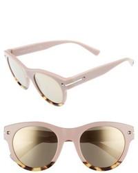 Valentino Garavani Valentino 51mm Round Sunglasses Pink Multi