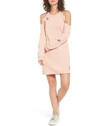 Cold shoulder sweatshirt dress medium 4913389