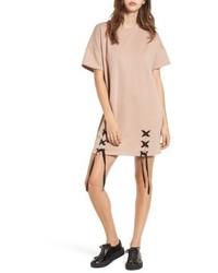 Lace up sweatshirt dress medium 5208930