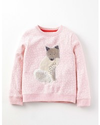 Boden Snowy Friends Sweatshirt