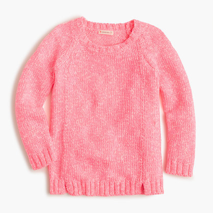 J.Crew Girls Marled Popover Sweater