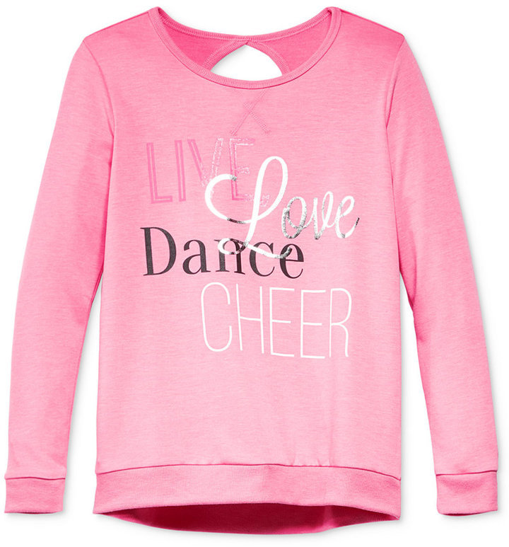 Ideology Girls Cheer Graphic Print Sweatshirt Only At Macys