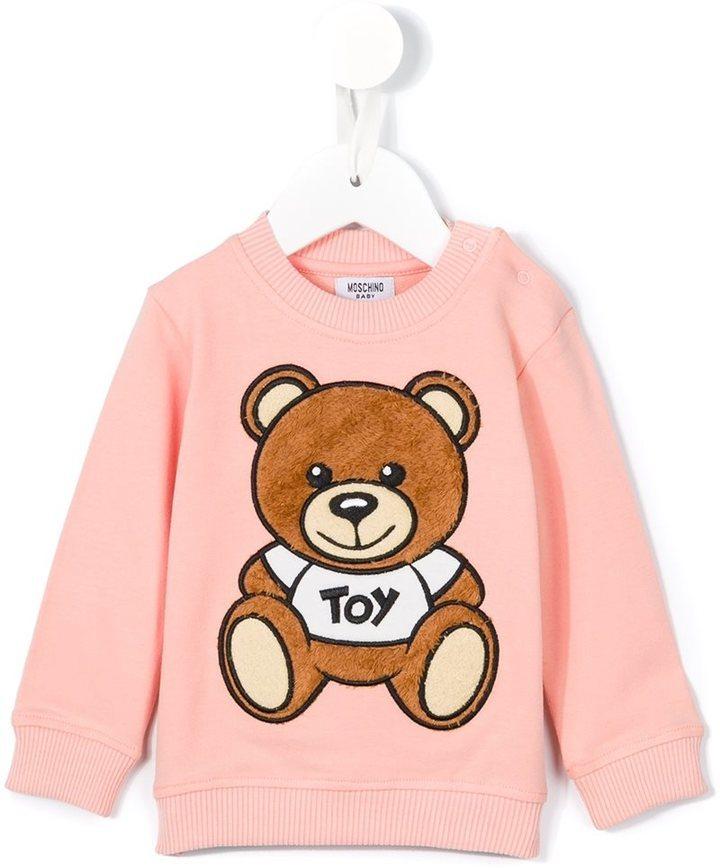 Moschino Kids Teddy Bear Appliqu Sweatshirt