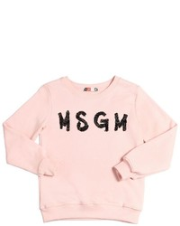 MSGM Embellished Logo Cotton Sweatshirt