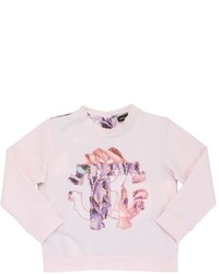 Roberto Cavalli Printed Light Cotton Satin Sweatshirt