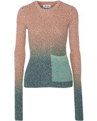 Acne Studios Rasha Dgrad Ribbed Cotton Blend Sweater Antique Rose