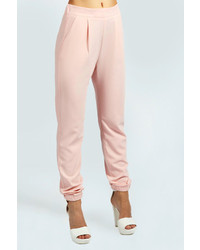 Boohoo Alice Woven Crepe Tailored Luxe Joggers