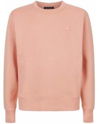 Acne Studios Fairview Face Sweatshirt Pink S