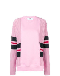 MSGM Knitted Panel Sweatshirt