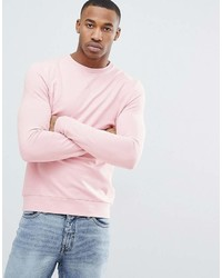 Asos Muscle Sweatshirt In Light Pink