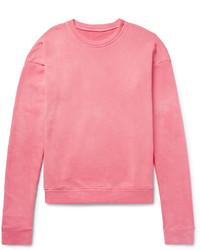 The Elder Statesman Oversized Loopback Cotton Jersey Sweatshirt