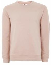 Topman Pink Nude Ultra Muscle Fit Sweatshirt