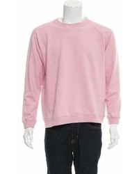 Julien David Rib Knit Trimmed Crew Neck Sweatshirt