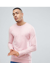 Asos Tall Muscle Sweatshirt In Light Pink