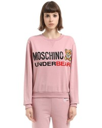 Moschino Underbear Print Cotton Sweatshirt