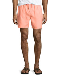 Original Penguin Solid Volley Swim Trunks Fusion Coral