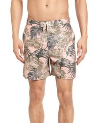 Original Penguin Tropical Leaf Volley Swim Trunks